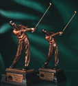 "Golfer - 10"" H corporate award, corporate crystal award, glass award, stunning glass award, art glass award, quality award, impressive award"