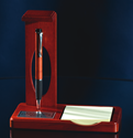 Note Pad Holder Pen Set corporate award, corporate crystal award, glass award, stunning glass award, art glass award, quality award, impressive award