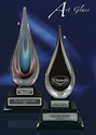 Crystal Award - Black Teardrop teardrop art glass award, teardrop award, black teardrop award, corporate awards, crystal  award, glass award, crystal award, glass award