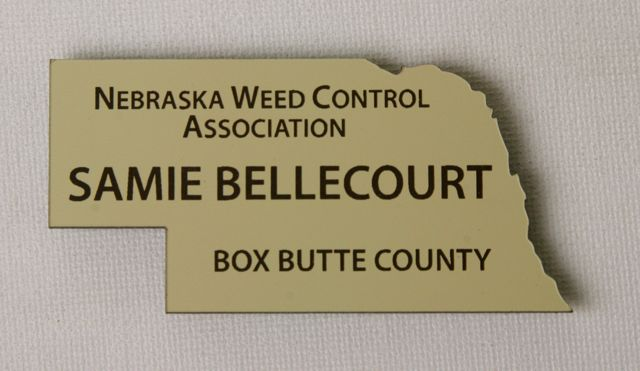 Buy state shaped name badges from Awards Unlimited, Lincoln, NE 800