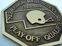 Nebraska High School Football Play-off Qualifier Medal Nebraska high school football playoffs, nebraska high school football play-off, nebraska high school football medal, nebraska football playoff medal