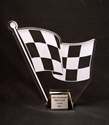Acrylic Checkered Flag Trophy where to buy checkered flag trophies, best checkered flag trophies, acrylic checkered flag trophies, race car trophies, best race car trophies