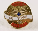 Pin - 40 Years of Service