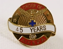 Pin - 45 Years of Service