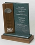 Exceptional Solid Walnut & Corian Trophy - 13LOOMCWWT