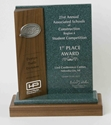 Exceptional Solid Walnut & Corian Trophy exceptional corporate award, exceptional corporate trophy, exceptional trophy, best award, walnut award, corian award
