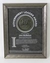 Custom Pewter Wood Frame Award pewter frame, pewter award, corporate award, corporate frame, custom pewter frame, custom plaque