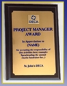 Plaque - Project Manager Award