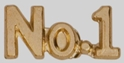 No. 1 Chenille Letter Pin chenille letter pin, number 1, no. 1, school awards, school pins
