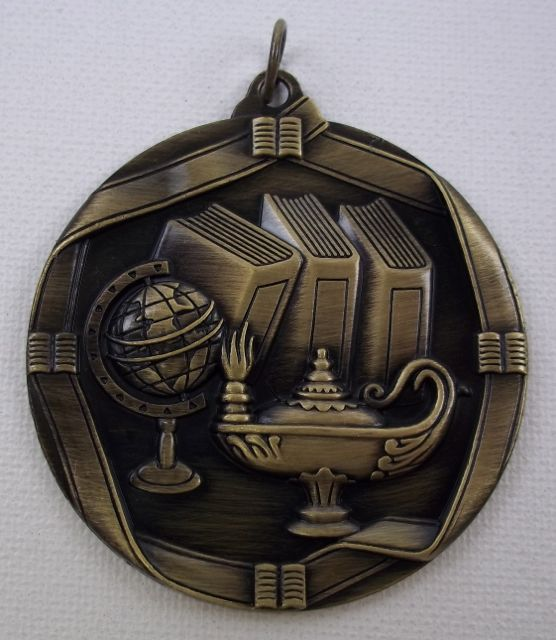 Lamp Of Knowledge Medallion 2 1 4 Quot Gold Au13mddsms612