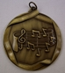 "Music Note Medallion, 2 1/4"", Gold  - au13mddsms659"