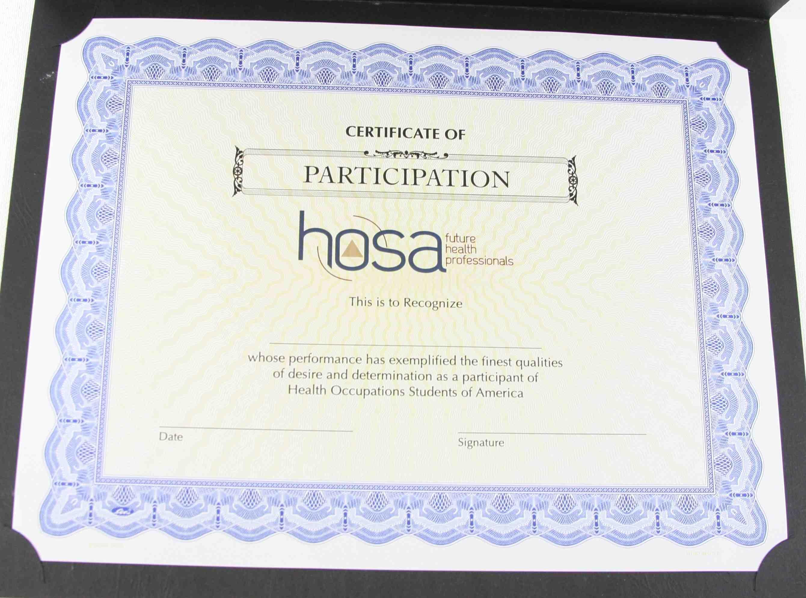 - hosa certificates