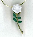 Rose Lapel Pin Necklace