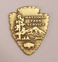 National Park Arrowhead Emblem National park arrowhead logo, national park arrowhead emblem, brass national park arrowhead emblem, national park logo