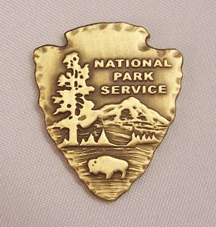 Brass National Park Arrowhead Medallion Emblem 1 1 2