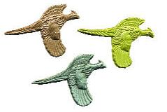 Lapel Pin - Flying Pheasant, Cast