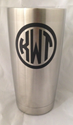 20 Ounce Double Walled Stainless Steel Tumbler yeti, cheap yeti, personalized