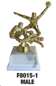Ball Player - Trophy Double Play where to buy cheap soccer trophies, where to buy YMCA soccer trophies, YMCA soccer tropy, soccer trophy,
