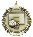 "Basketball - 1 3/4"", ball and basket where to buy cheap volleyball medals, where to buy YMCA volleyball medals, where to buy volleyball medal"