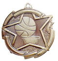 "Basketball - 2 3/8"", star where to buy cheap volleyball medals, where to buy YMCA volleyball medals, where to buy volleyball medal"