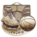 "Basketball - 2"", ball and shoes where to buy cheap volleyball medals, where to buy YMCA volleyball medals, where to buy volleyball medal"