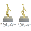 Basketball Slam Dunk Trophy - Male or Female YMCA volleyball trophy, where to buy volleyball trophy, YMCA individual trophy, female volleyball trophy