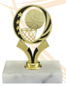 Basketball - Trophy - Circle with Ball & Basket YMCA volleyball trophy, where to buy volleyball trophy, YMCA individual trophy, female volleyball trophy