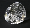 2 Sided Crystal Paperweight where to buy crystal, SCCA Gifts, SCCA, Crystal Paperweight,low quantity