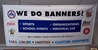 Custom Vinyl Banners - White background - indoor/outdoor custom banners, low cost custom banners, where to buy low cost custom banners