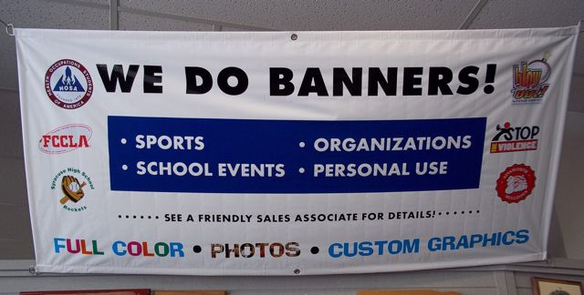 Buy Custom Banners From Awards Unlimited Lincoln NE - Custom vinyl banners