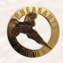 Cut out Flying Pheasant with enamel color