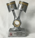 Double Piston Silver Resin Trophy