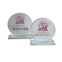 Full Color, Circle, Jade Glass Award where to buy SCCA awards, jade glass award, custom award, custom race awards
