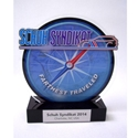 Full Color Farthest Traveled Trophy where to buy farthest traveled award, SCCA trophy, full color farthest traveled award, acrylic award, custom acrylic award