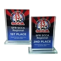 Full Color, Rectangle, Jade Glass Award where to buy SCCA awards, jade glass award, custom award, custom race awards