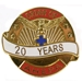 Pin - 20 Years of Service - AYSP10420