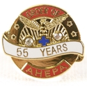 Pin - 55 Years of Service