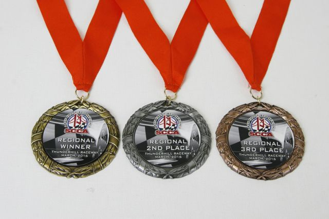 Racing medallions, from Awards Unlimited, Lincoln, NE 800