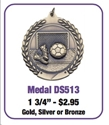 "Soccer - 1 3/4"" Shoes/Ball/Net Medallion where to buy cheap soccer medals, where to buy YMCA soccer medals, soccer medal,"