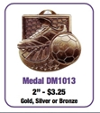 "Soccer - 2"" Shoes/Ball Medallion where to buy cheap soccer medals, where to buy YMCA soccer medals, soccer medal,"