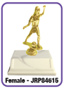 Soccer - Dribbler Trophy where to buy cheap soccer trophies, YMCA soccer trophy, where to buy YMCA trophies, soccer trophies