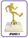 "Soccer -  ""Kicker"" Trophy where to buy cheap soccer trophies, YMCA soccer trophy, where to buy YMCA trophies, soccer trophies"