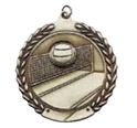 "Volleyball - 1 3/4"", ""Net"" Medallion where to buy cheap volleyball medals, where to buy YMCA volleyball medals, where to buy volleyball medal"