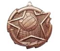 "Volleyball - 2 3/8"", ""Star/Ball"" Medallion where to buy cheap volleyball medals, where to buy YMCA volleyball medals, where to buy volleyball medal"