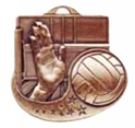 "Volleyball - 2"", ""Hand/Ball"" Medallion where to buy cheap volleyball medals, where to buy YMCA volleyball medals, where to buy volleyball medal"