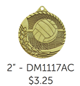 "Volleyball - 1 5/8"" Medallion  where to buy cheap volleyball medals, where to buy YMCA volleyball medals, where to buy volleyball medal"