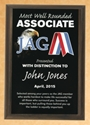 Plaque - JAG Student Awards of Distinction