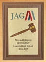Plaque - JAG Officer Recognition